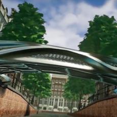 Un pont en métal imprimé en 3D