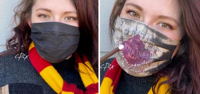 Harry Potter : elle crée un masque que s'anime façon «Carte du Maraudeur»