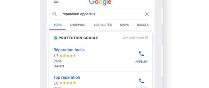 Protection Google : un badge pour garantir la fiabilité des services à domicile ou à proximité