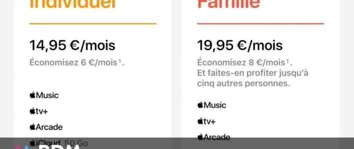 Apple One, l'offre qui regroupe Music, TV+, Arcade et iCloud, disponible aujourd'hui