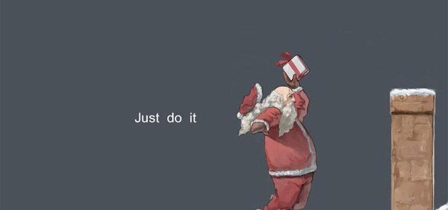 «Air Santa»  Une fausse pub Nike de 2011 qui mérite bien les 2 points de la vi…