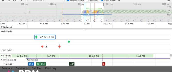 Chrome 88 : Google intègre les Core Web Vitals dans les DevTools