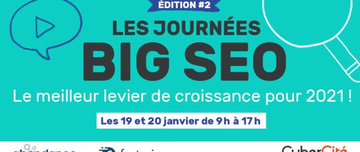 BIG SEO : 2 jours de conférences en ligne gratuites sur le SEO