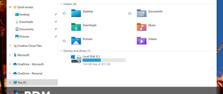 Windows 10 : découvrez les nouvelles icônes de l'Explorateur de fichiers