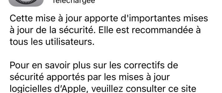 iPhone : la mise à jour iOS 14.4.2 corrige une faille de sécurité critique