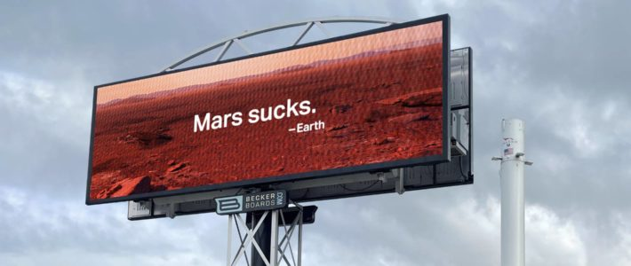 Une agence trolle Elon Musk avec sa campagne «Mars sucks»