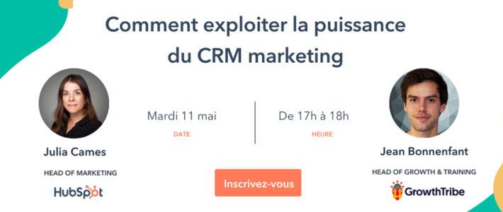Webinar : comment exploiter un CRM marketing efficacement
