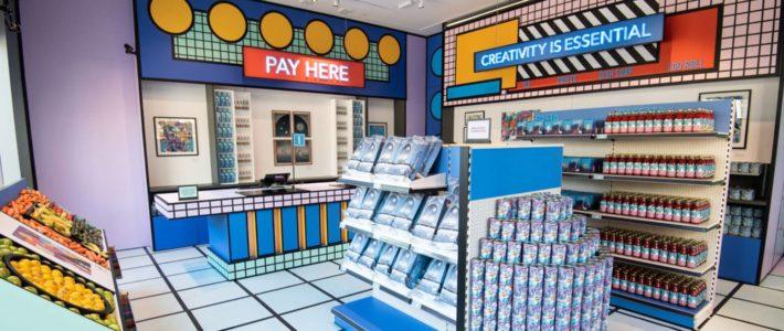 Pour contourner le confinement, cette galerie d'art se transforme en supermarché