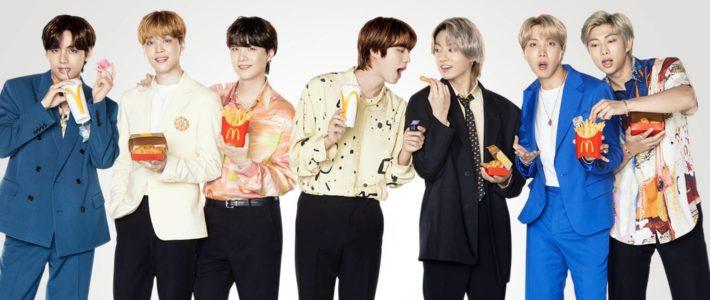 McDonald's dévoile une collaboration avec BTS, le célèbre boys band coréen