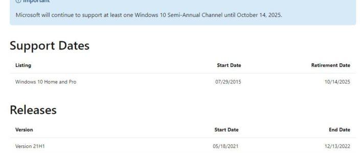 Microsoft annonce la fin de Windows 10, avant le lancement de son nouvel OS