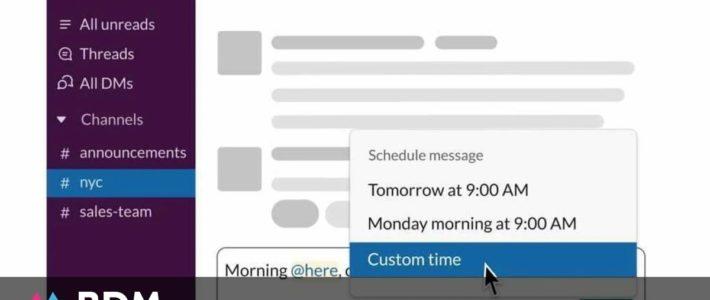 Slack : comment programmer un message ?