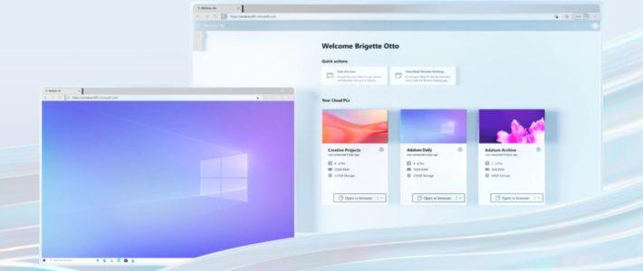 Microsoft lance Windows 365, le PC Cloud à partir de 21,90 € par mois