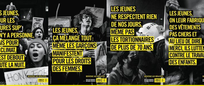 Amnesty International célèbre la jeunesse française