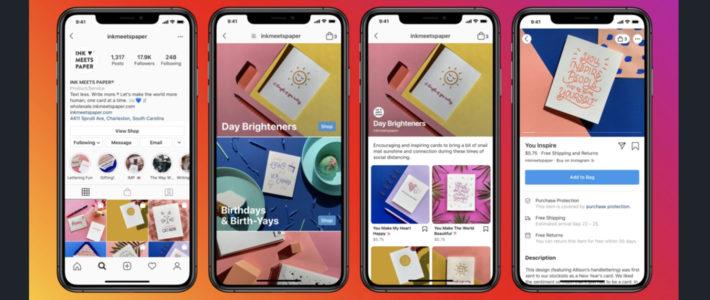 Instragram teste les publicités dans l'onglet Shop
