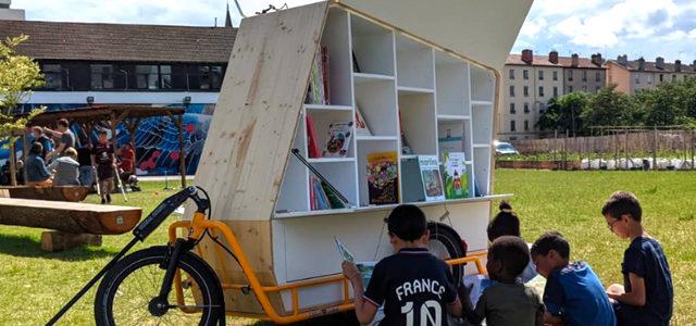 Lyon : un vélo-bibliothèque part à la rencontre des enfants