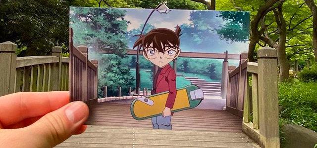 Elle retrouve les vrais décors des Mangas