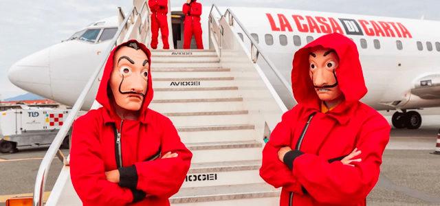 Un avion La Casa de Papel anti-spoil