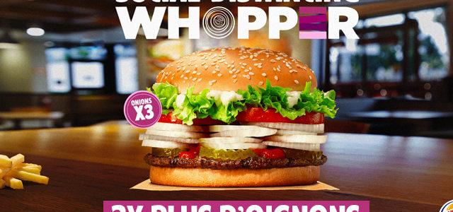 Burger King lance le «Social Distancing Whopper» avec beaucoup d'oignons