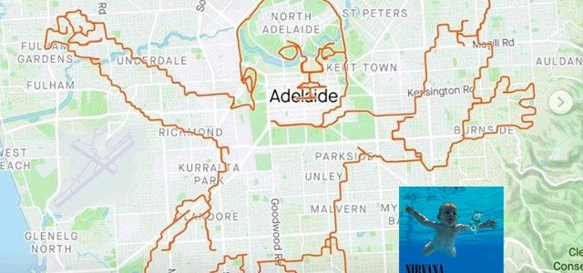 Un cycliste utilise son GPS pour rendre hommage aux 30 ans de «Nevermind»