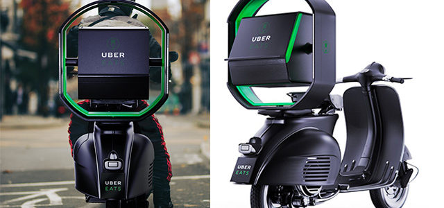 Uber Eats : un stabilisateur gyroscopique pour le caisson de livraison