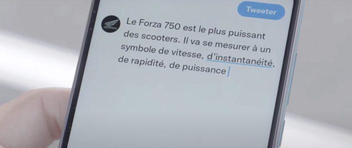 Le Honda Forza 750 est plus rapide qu'un tweet